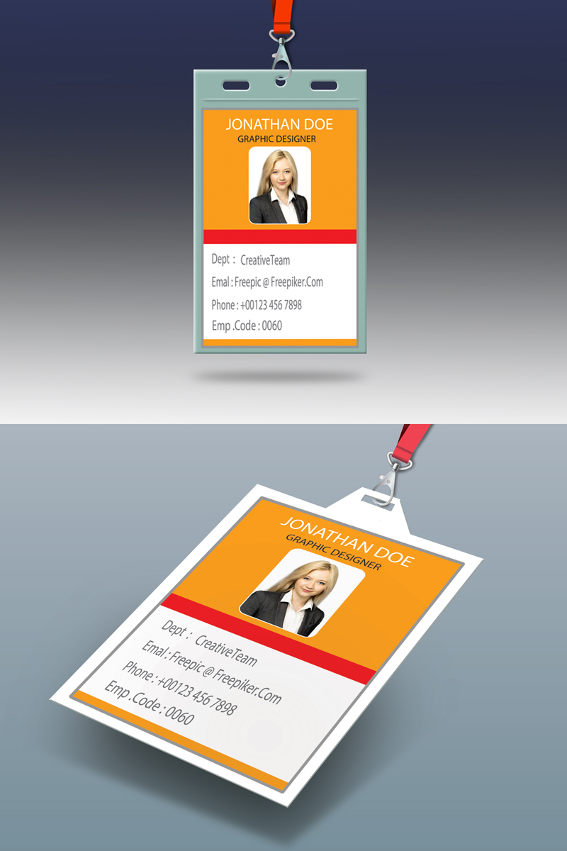 ID Card Product Mockup