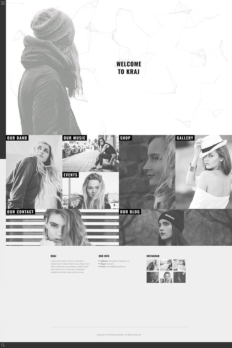 Kraj - Music Band WordPress Theme - screenshot
