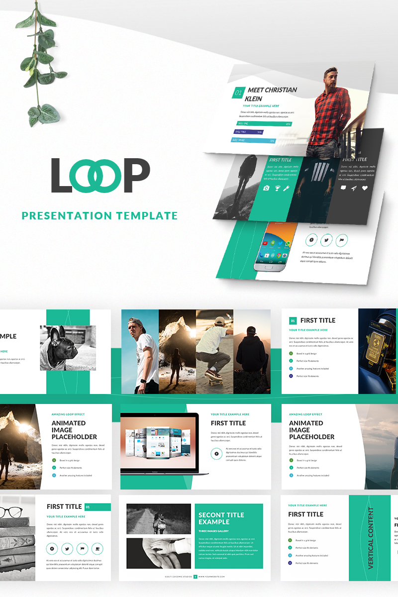 Loop Presentation PowerPoint Template