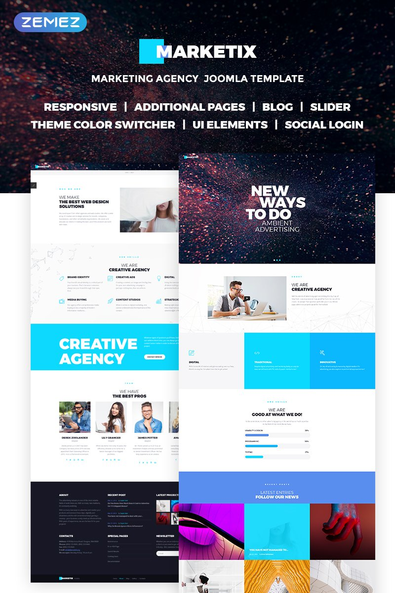 Marketix - Impressive Creative Agency Joomla Template