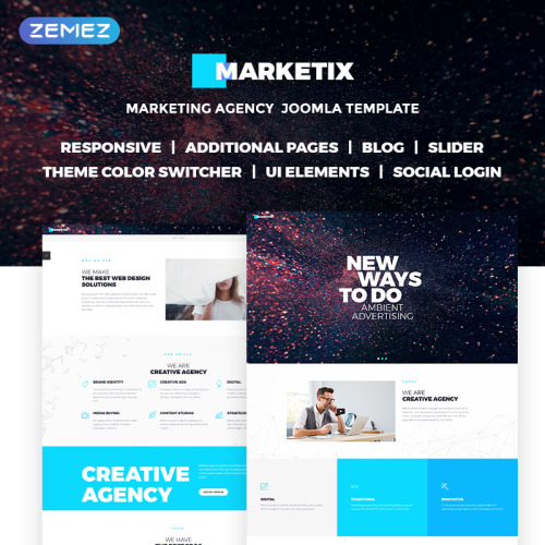 Marketix - Impressive Creative Agency - Joomla! Template based on Bootstrap