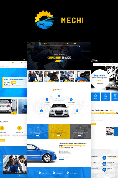 Mechi - Car Mechanic Responsive Tema WordPress №68595 #68595