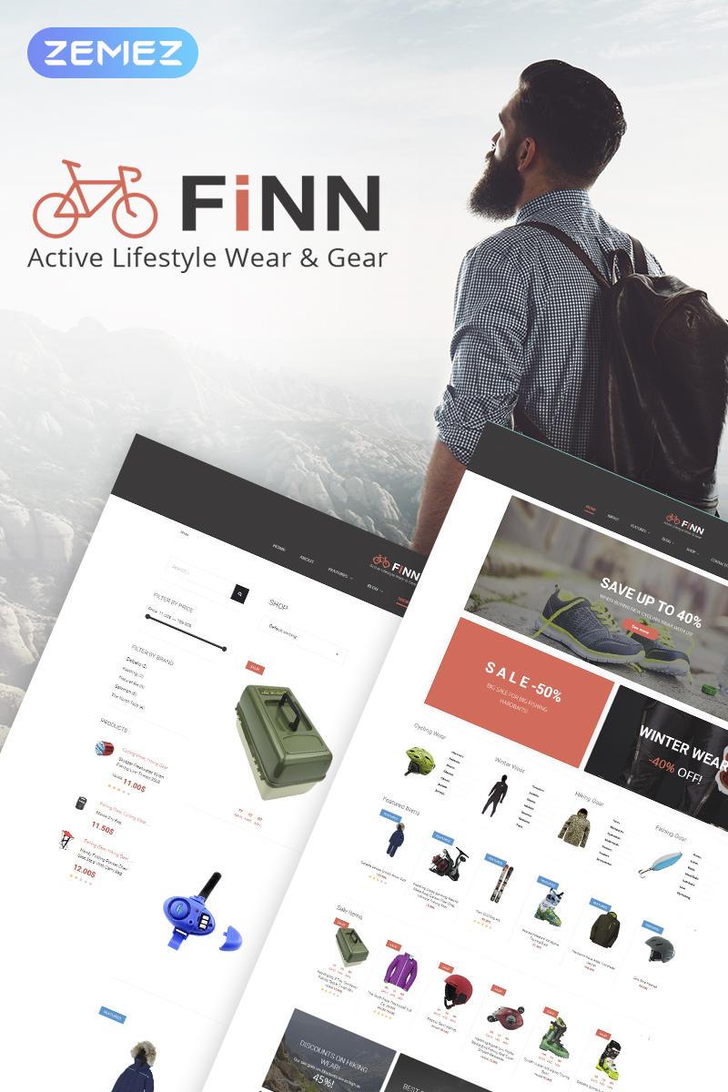 """Modello WooCommerce Responsive #68522 """"Finn - Outdoors Elementor"""""""