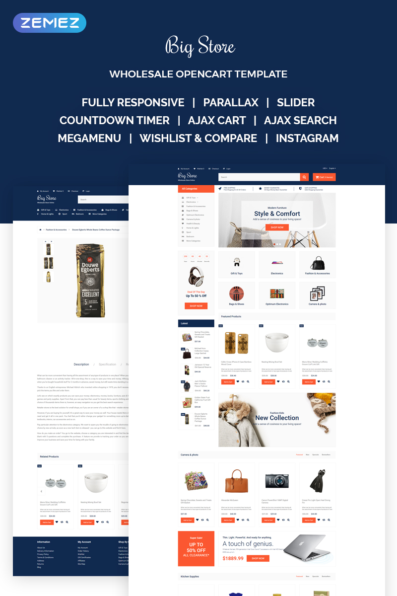 Responsivt Big Store - Elegant Wholesale Online Shop OpenCart-mall #68511