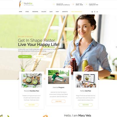 Responsywny motyw WordPress #68597 na temat: owoce