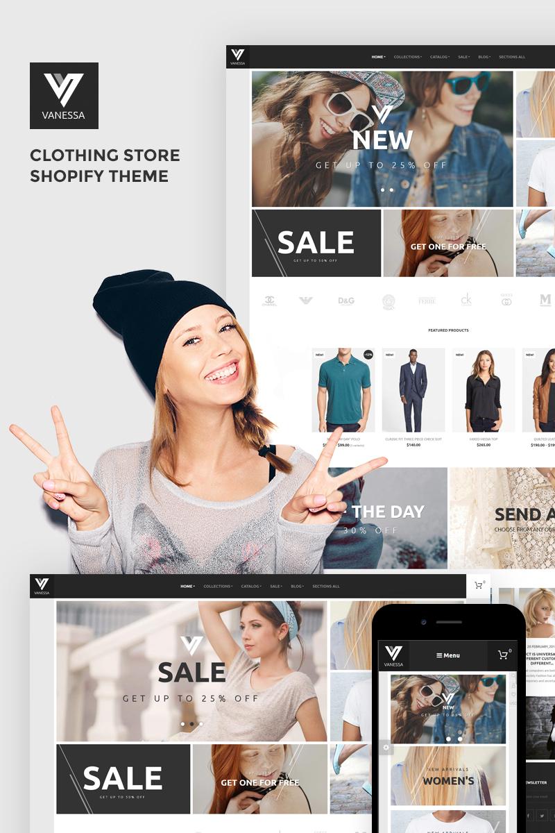 Reszponzív Vanessa - Clothing Store Shopify sablon 68535