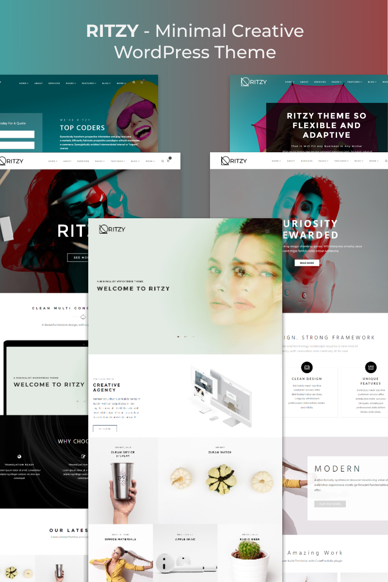 Ritzy - Minimal Creative Elementor WordPress Theme