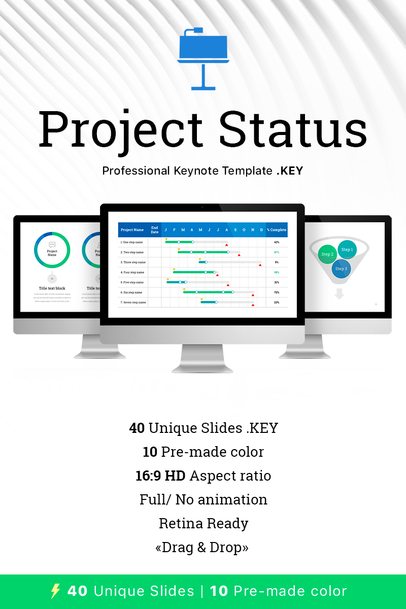 "Template Keynote #68536 ""Project Status for"""