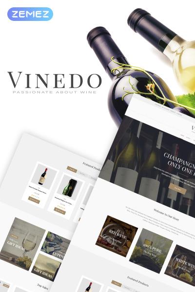 Vinedo - Elementor WooCommerce шаблон винного магазина  #68518