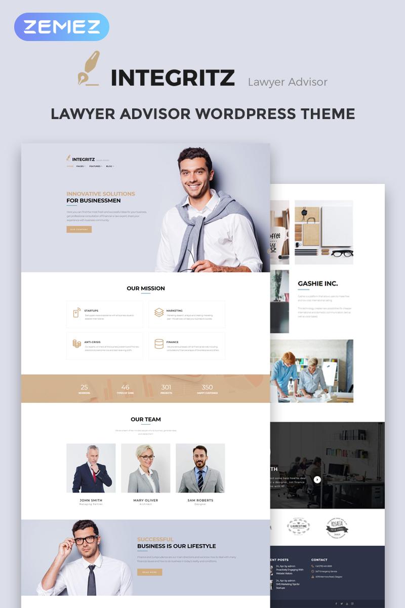 "WordPress Theme namens ""Integritz - Responsive Law Firm Elementor"" #68519"