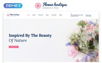 Flower Boutique Multipage HTML5 Website Template