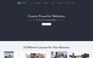 Moments - Photographer Portfolio Multipurpose Website Template