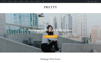 Pretty - Magazine Multipurpose HTML5 Website Template