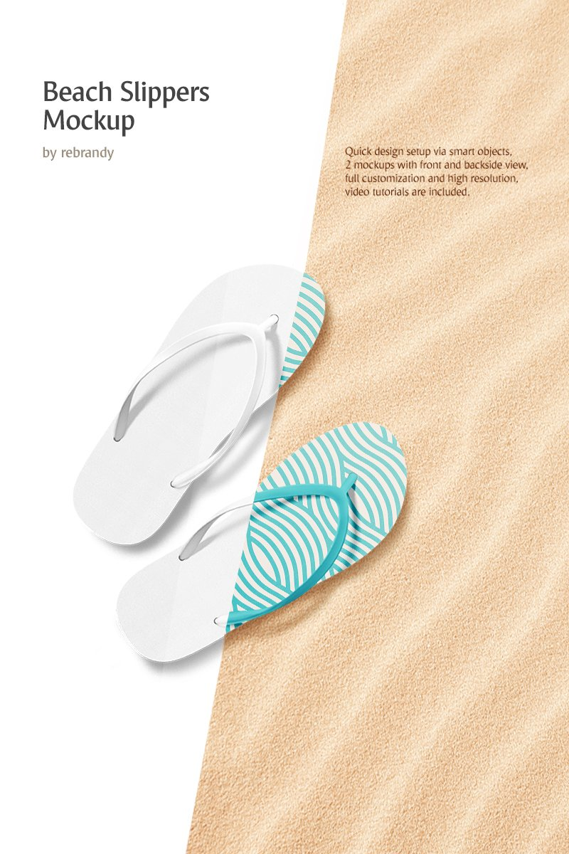 Beach Slippers Product Mockup - screenshot