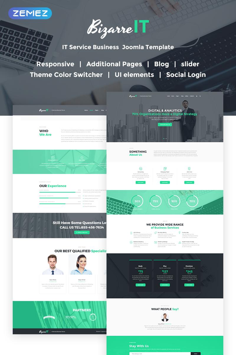 Bizarre IT - Responsive IT Company Joomla Template - screenshot