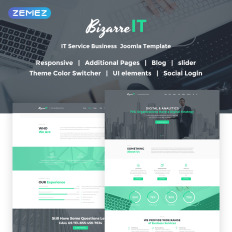 It company joomla template 51399 bizarre it responsive it company parallax joomla template flashek Gallery