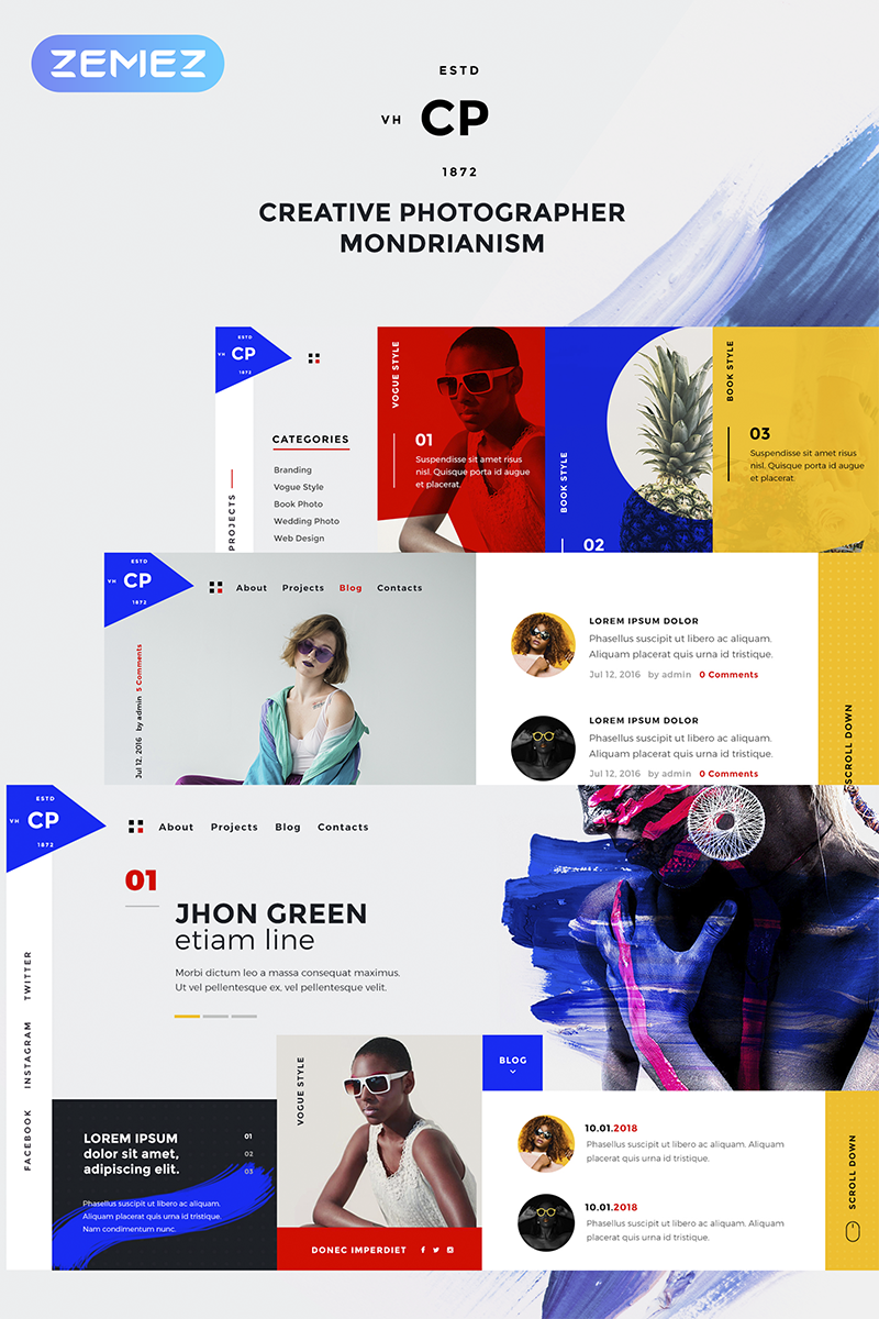 CPM- Creative Photographer Elementor WordPress Theme