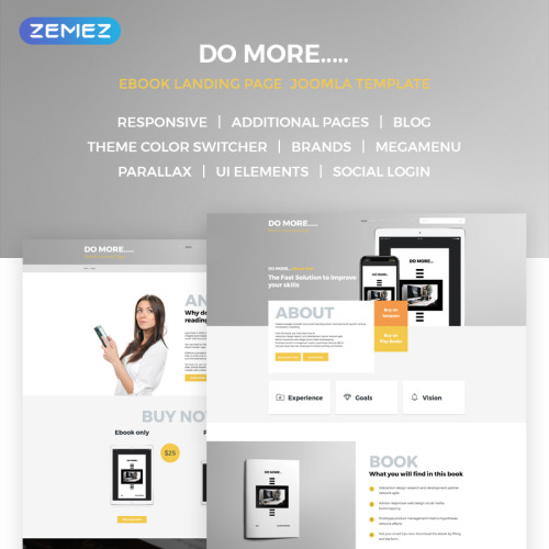 eBook Landing Page - Joomla! Template based on Bootstrap