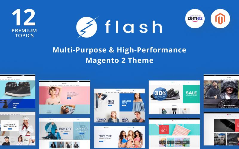 """Flash - Multi-Purpose & High-Performance"" 响应式Magento模板 #68618"