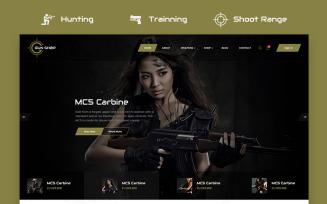 Gun Shop HTML Template Website Template
