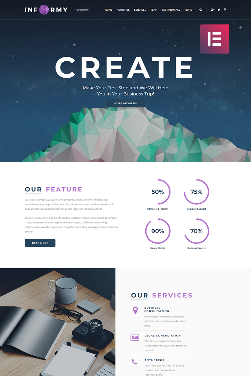 Informy - Consulting Company Elementor WordPress Theme