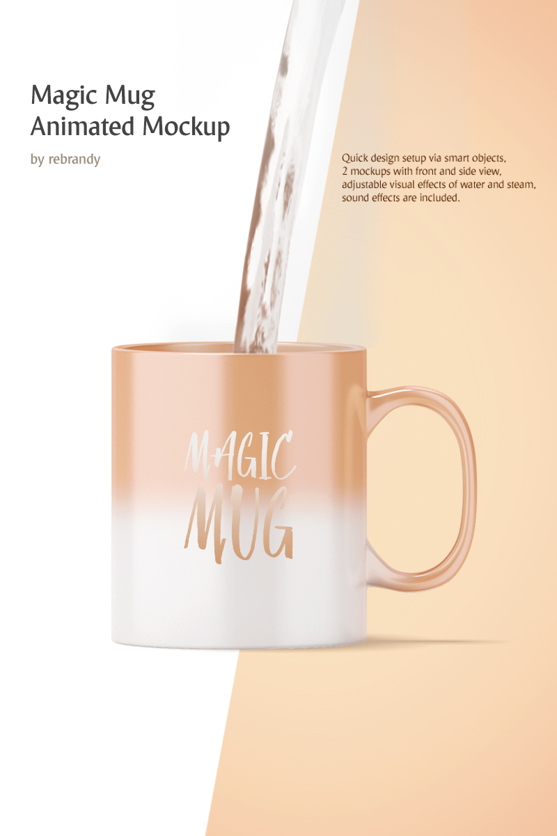 Magic Mug Animated Product Mockup #68695