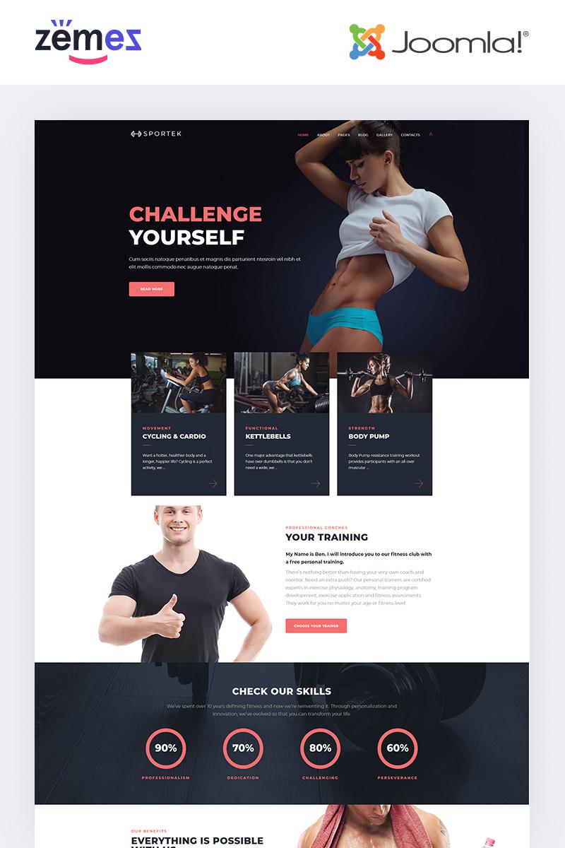 "Modello Joomla Responsive #68669 ""Sportek - Gym Responsive Creative"""