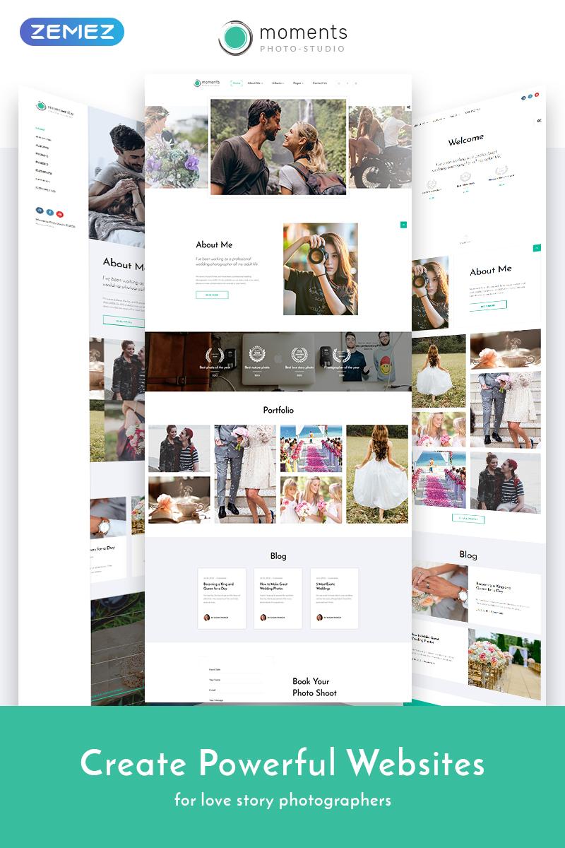 """Moments - Photographer Portfolio Multipurpose"" Responsive Website template №68692"