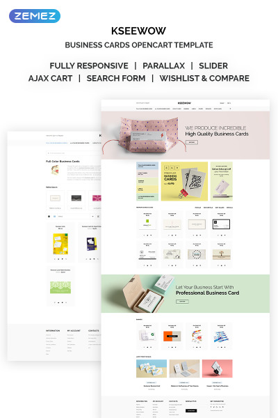 Responsive Plantilla OpenCart #68691 para Sitio de  para Sitio de Servicios Comerciales