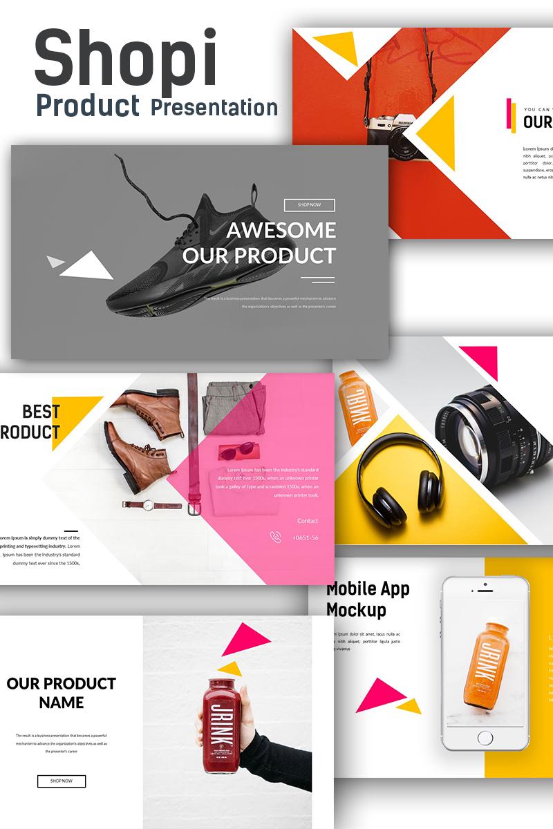 "PowerPoint Vorlage namens ""Shopi Premium Shop Presentation"" #68614 - Screenshot"
