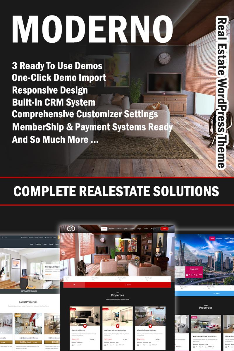 Responsywny motyw WordPress Moderno - Real Estate Premium #68689 - zrzut ekranu