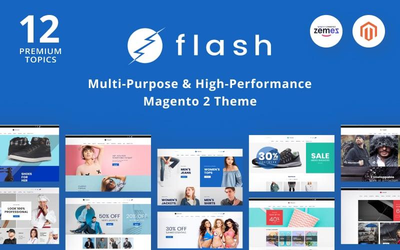 Responsywny szablon Magento Flash - Multi-Purpose & High-Performance #68618