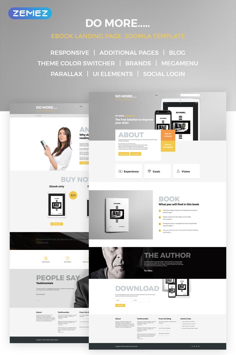 Reszponzív eBook Landing Page Joomla sablon 68668 - képernyőkép