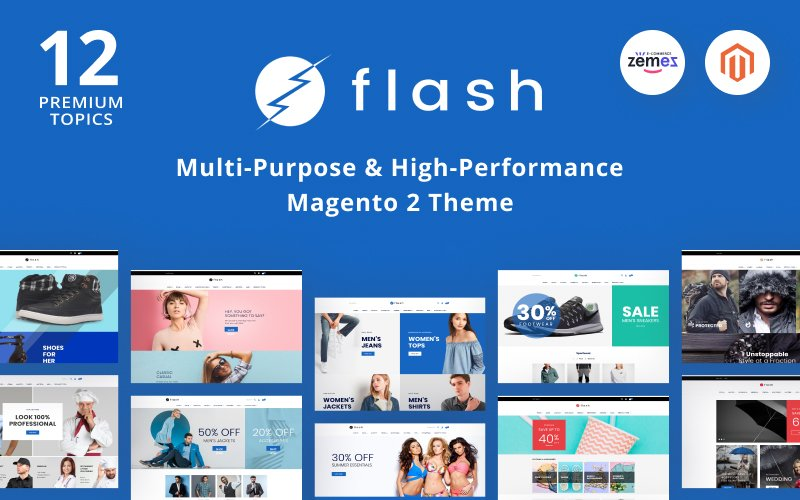 Reszponzív Flash - Multi-Purpose & High-Performance Magento sablon 68618