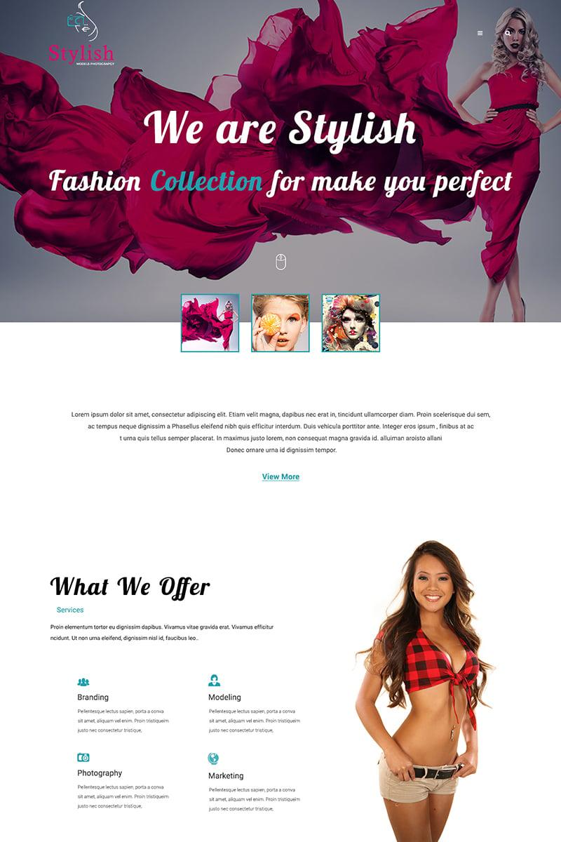 """Stylish Models Photography"" PSD模板 #68683"