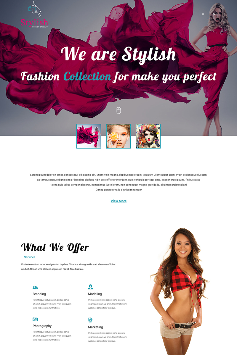 Stylish Models Photography PSD Template
