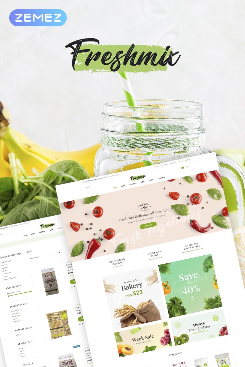 "Tema WooCommerce ""Freshmix - Organic Food Online Store Elementor"" #68633"