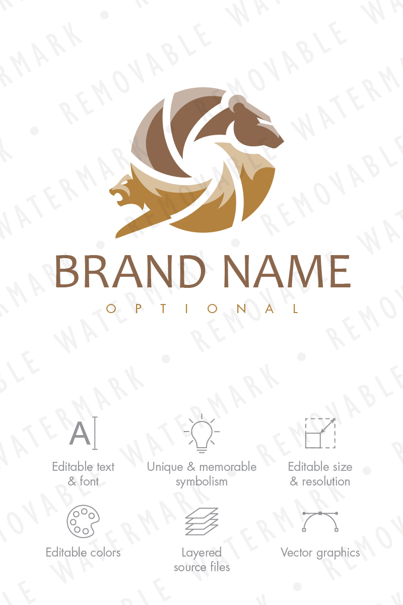 Wildlife Photography Logo Template 68620