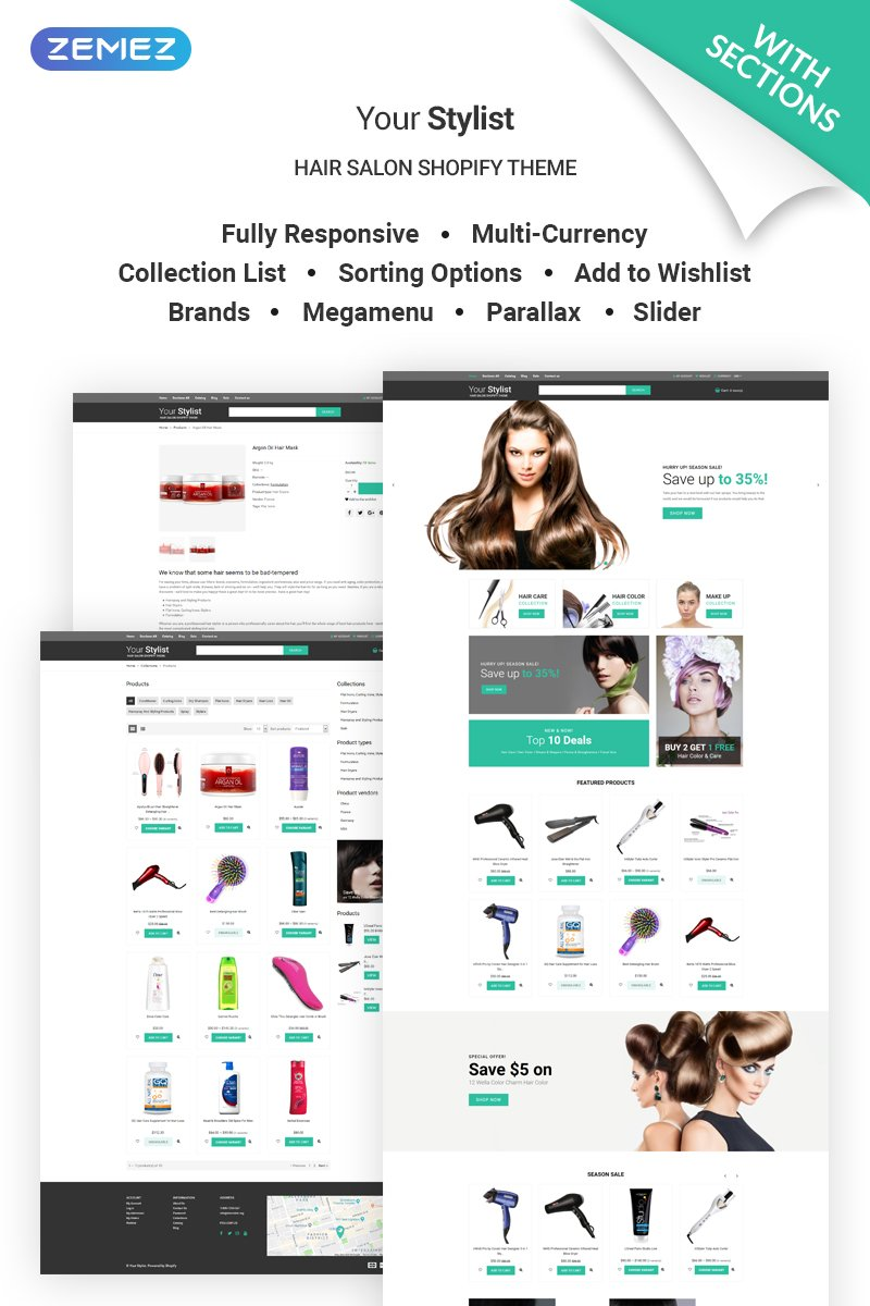 YourStylist - Hair Salon Shopify Theme
