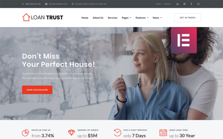 Loan Trust - Mortgage Company Elementor WordPress Theme