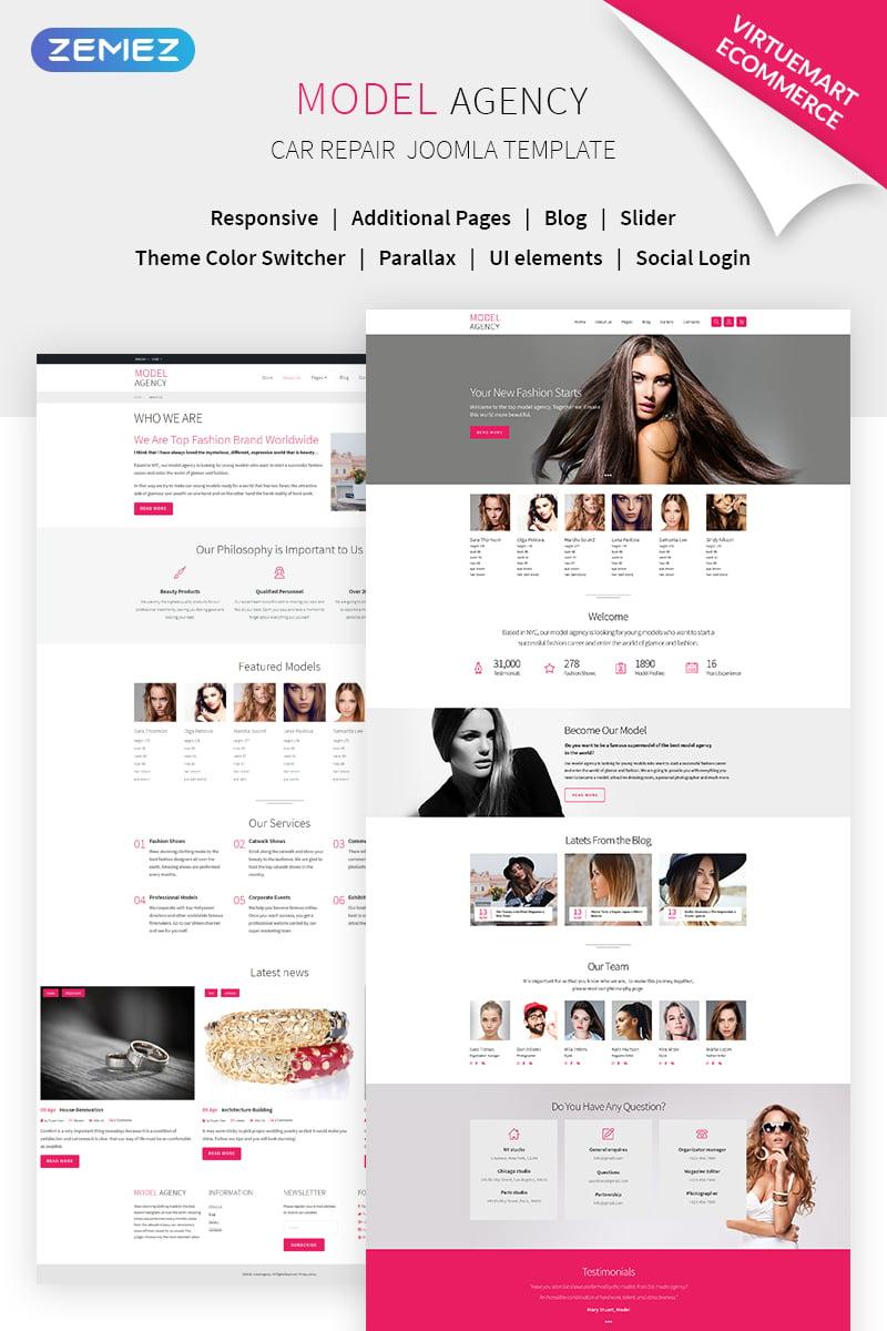 Website Template  68721 Agency Model Events Custom Website Template ... e5e1369b8586