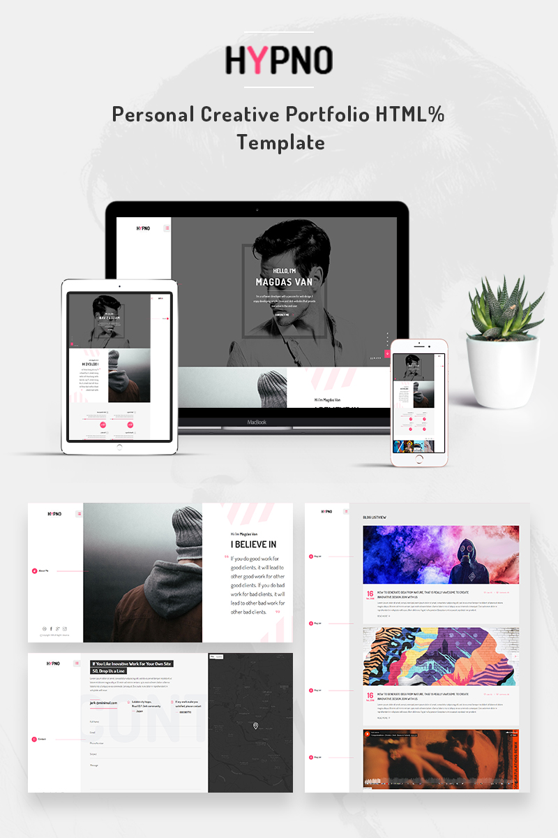 Website template 68758 personal blog portfolio custom website website design template 68758 creative bootstrap clean modern agency responsive html service designer freelancer maxwellsz