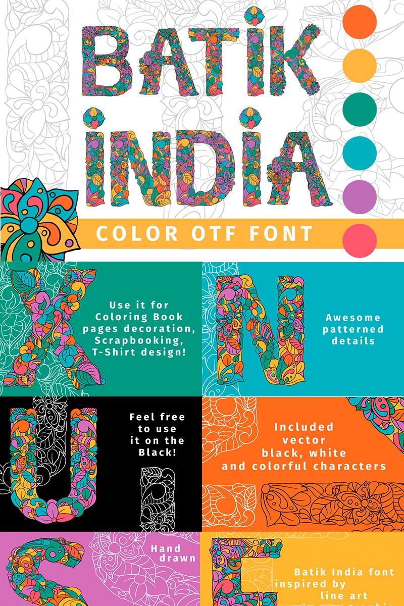 Batik India Color OTF Font - screenshot