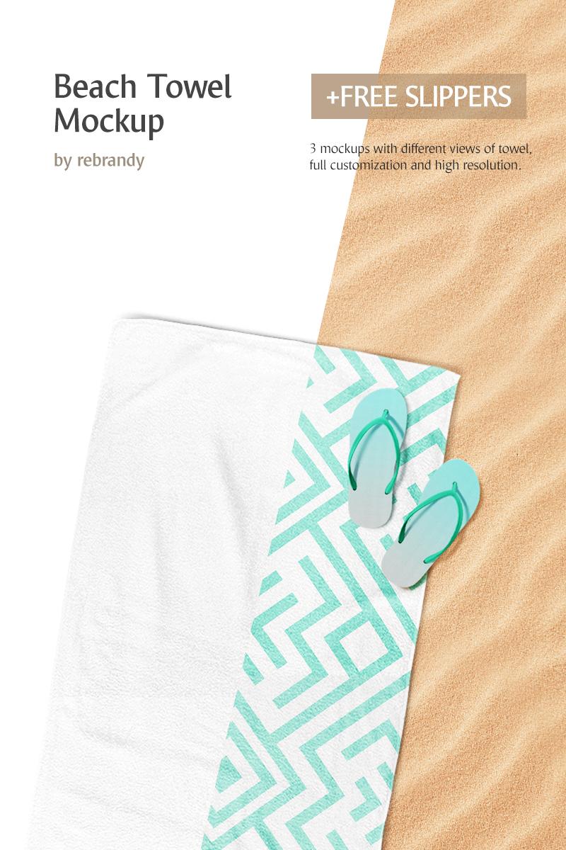 beach towel product mockup 68720. Black Bedroom Furniture Sets. Home Design Ideas