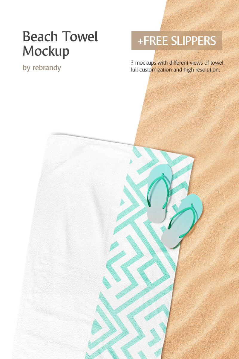Beach Towel Product Mockup - screenshot