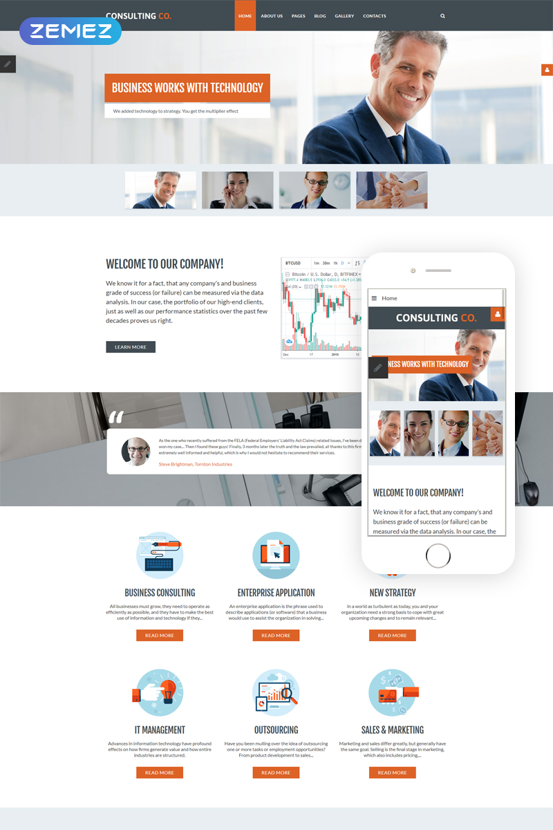 """Consulting Co. - Consulting Corporate"" thème Joomla adaptatif #68760"
