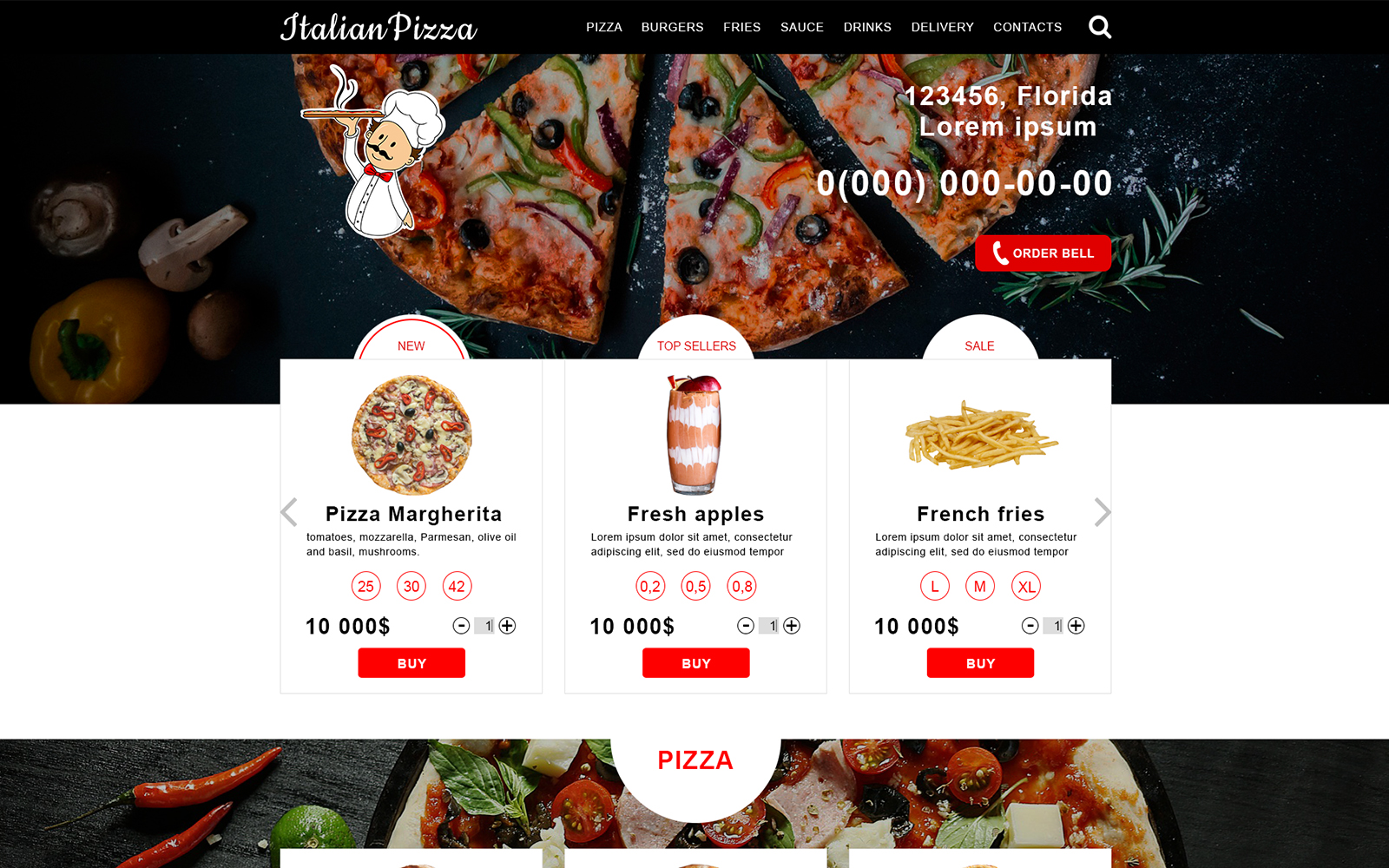 Delivery food PSD Template
