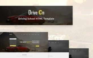 DriveOn – Driving School Website Template