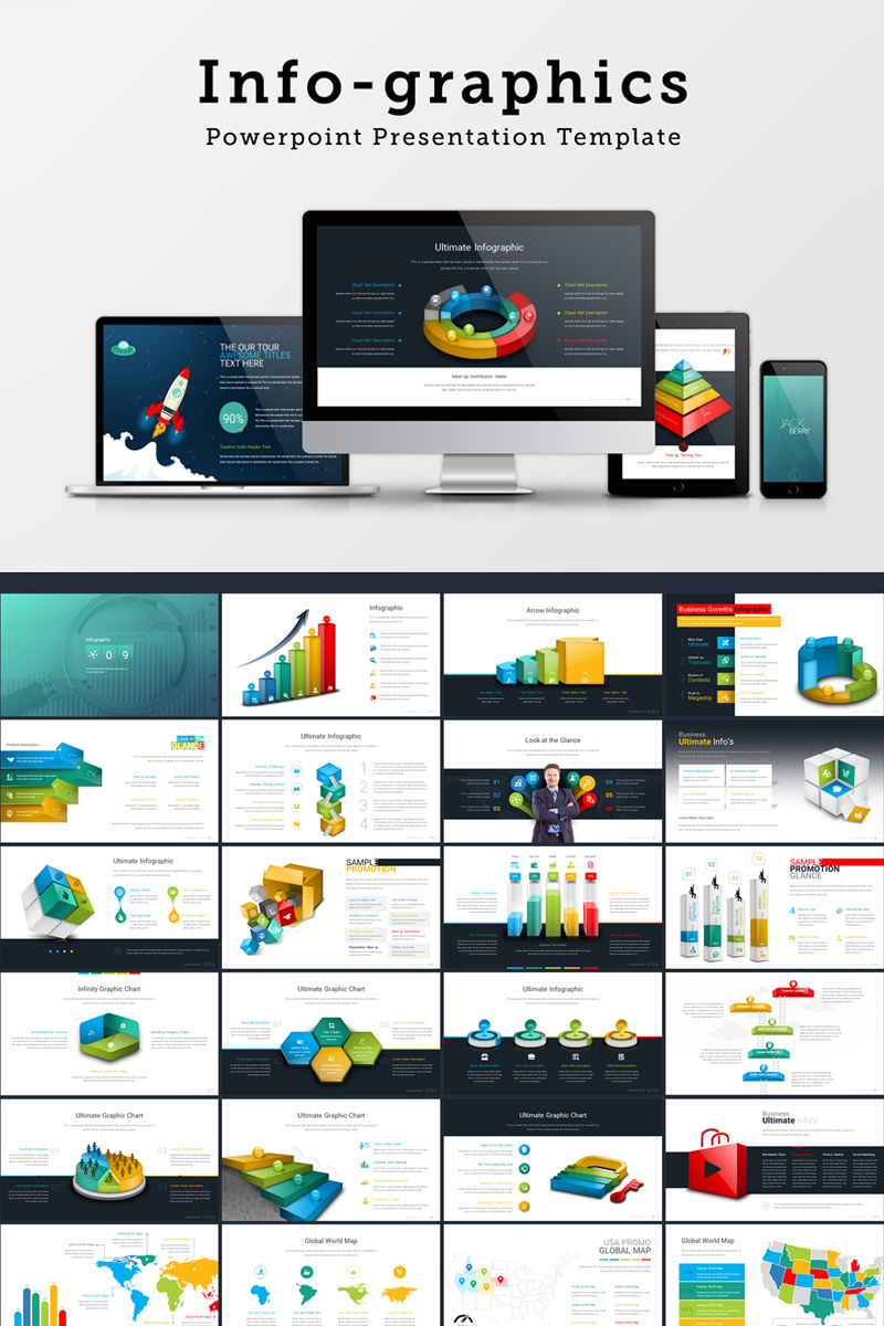 """Infographics Presentation"" - PowerPoint шаблон №68719"
