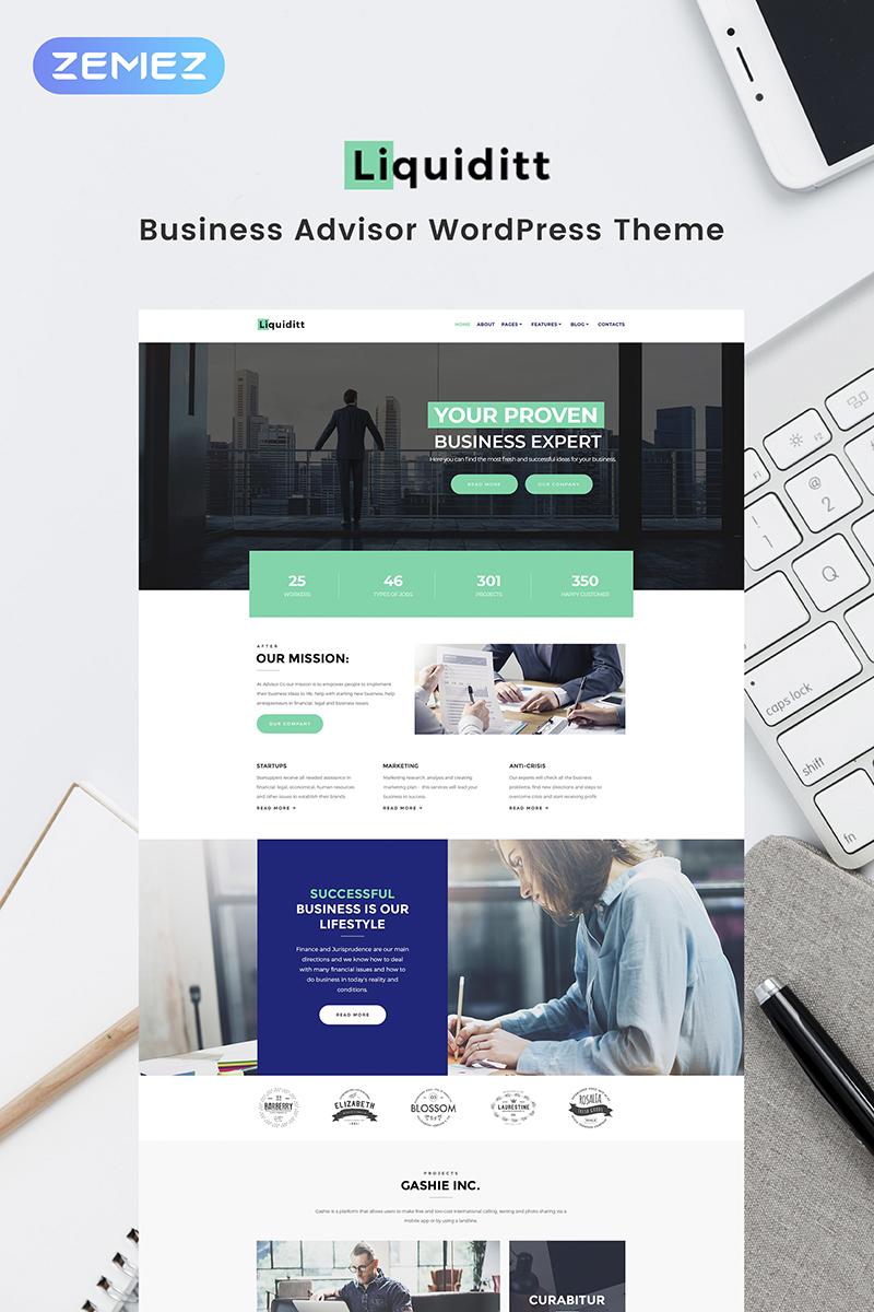 """""""Liquiditt - Business Consulting Elementor"""" Responsive WordPress thema №68712 - screenshot"""